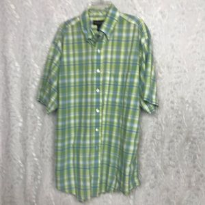 Brooks Brothers Mens Large Yellow Green Blue Plaid